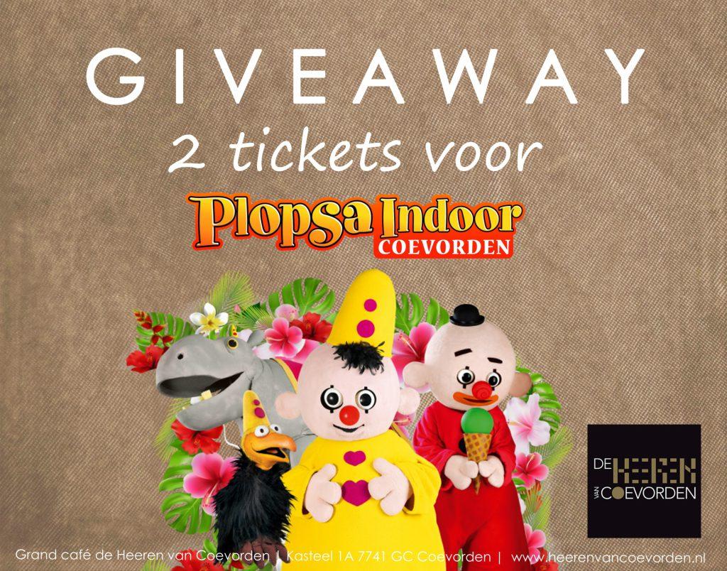 Give away Plopsaland indoor Coevorden 2018 Heeren van Coevorden