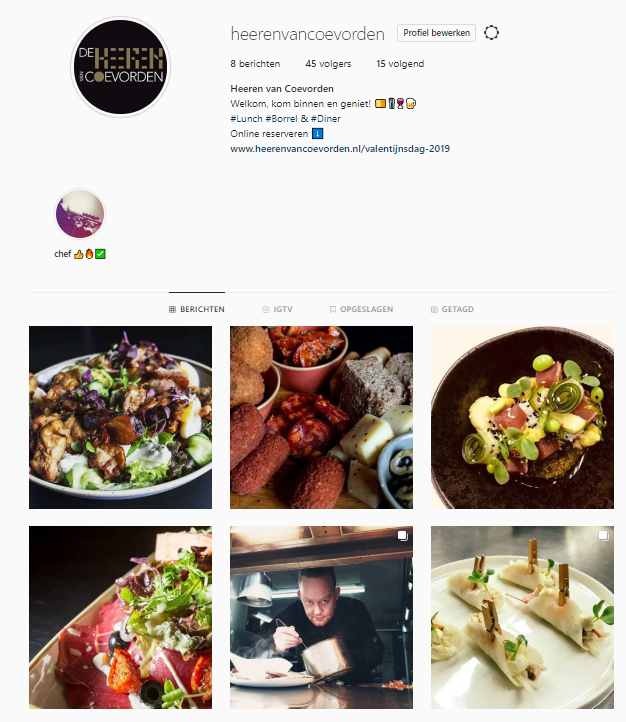 Instagram Heeren van Coevorden
