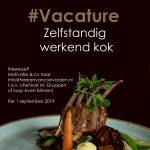 vacature zelfstandig werkend kok Grand café de Heeren van Coevorden