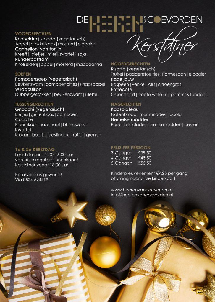 Kerstdiner 2019 Grand café de Heeren van Coevorden kerst